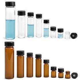 Wheaton vials 8ml - zwart fenol deksel & (PTFE)/14B rubber inlage