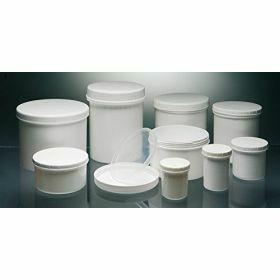 Zalfpotten in wit PP of transparant PS - schroefstop/indrukstop (wit of ivoorkleur)